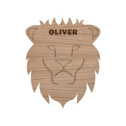 Løve lampe med graveret navn