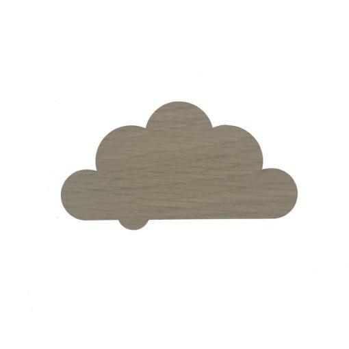 10 cm børneknage formet som en sky, lavet i egetræ