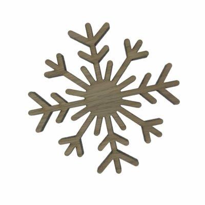 Knage formet som et snefung i egetræ, børneknager