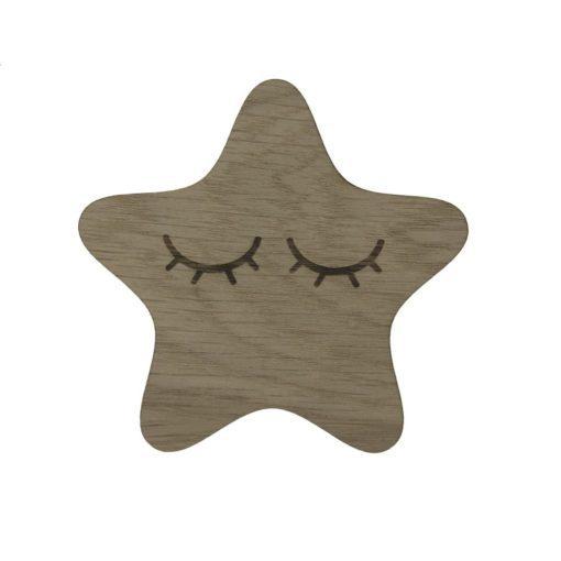 Stjerne med vipper til pigeværelset, børneknage