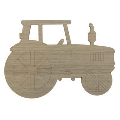 Traktor væglampe til drengeværelset i egetræsfiner