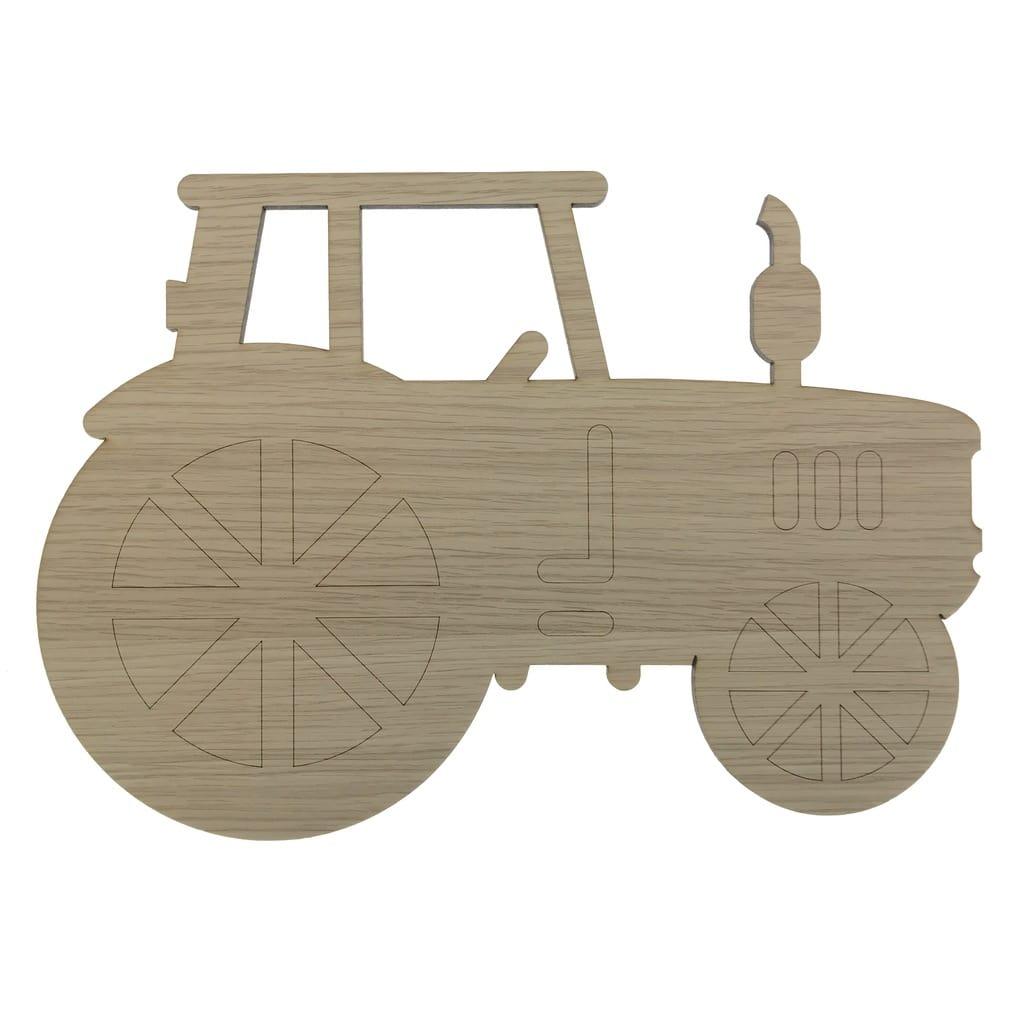 Pæn Traktor lampe i træ til drengeværelset ⇒ Villavejen.com MK59