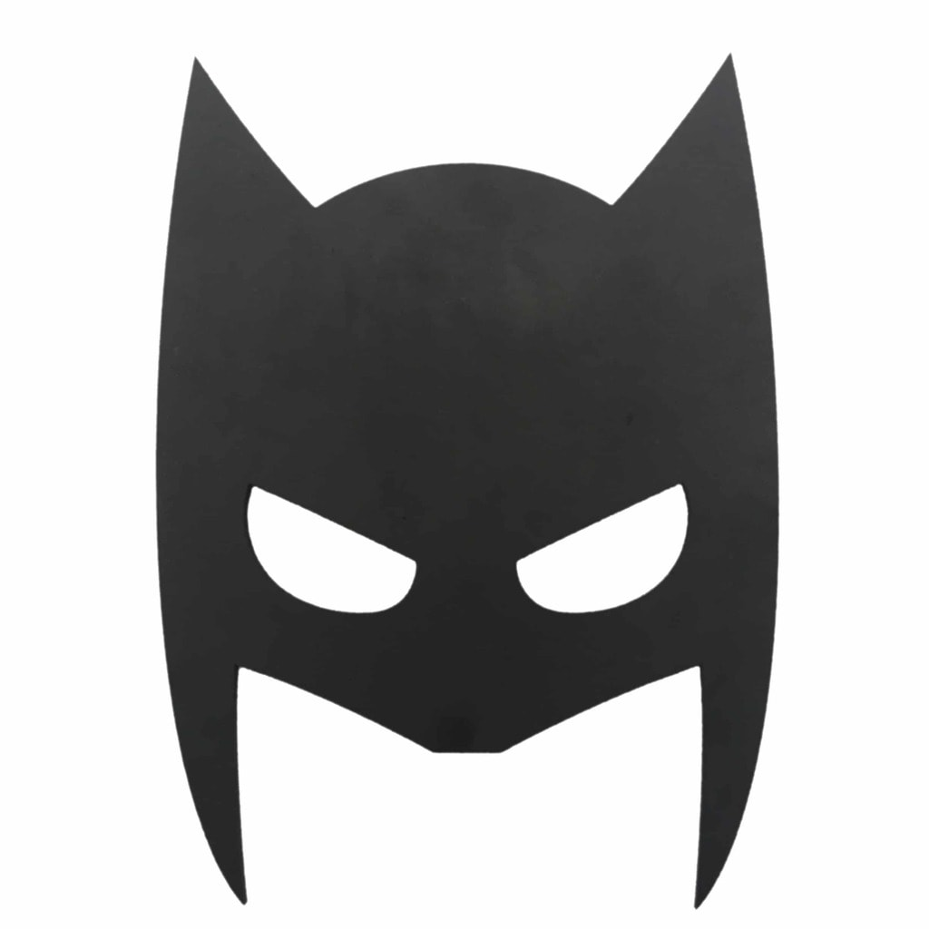 batman face mask template - maskelampe i sort tr med navn