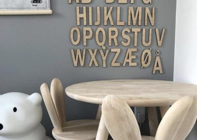alfabet egetræ til børneværelset