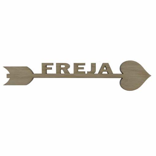 Navnepil til væg med Freja skåret til pigeværelse