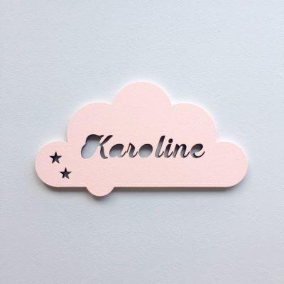 Svævende sky navneskilt