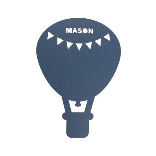 Luftballon lampe med navn malet