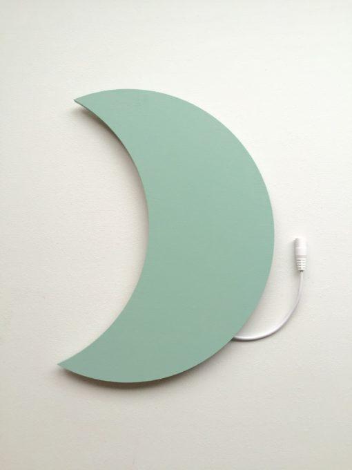 Måne lampe uden navn petrolium grøn