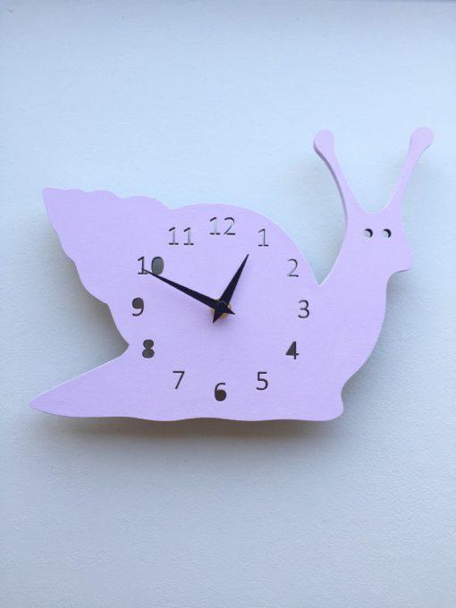Snegl væg ur i lyserød