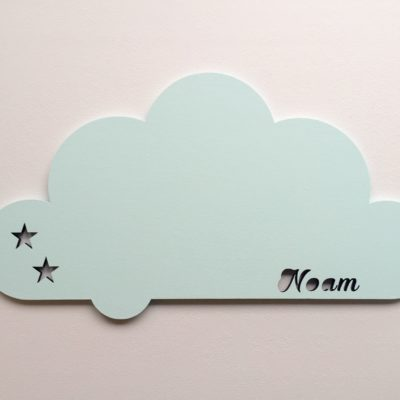 Svævende sky lampe - mint
