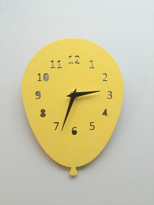 Væg ur ballon - gul