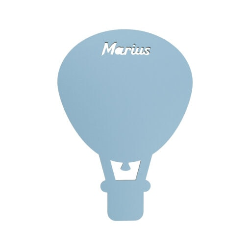 Luftballon lampe med navn til børneværelset
