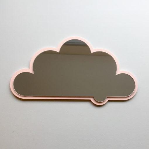 Sky spejl i lyserød, flot kant