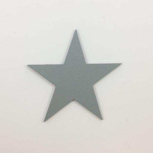 Woodsticker formet som en stjerne i grå