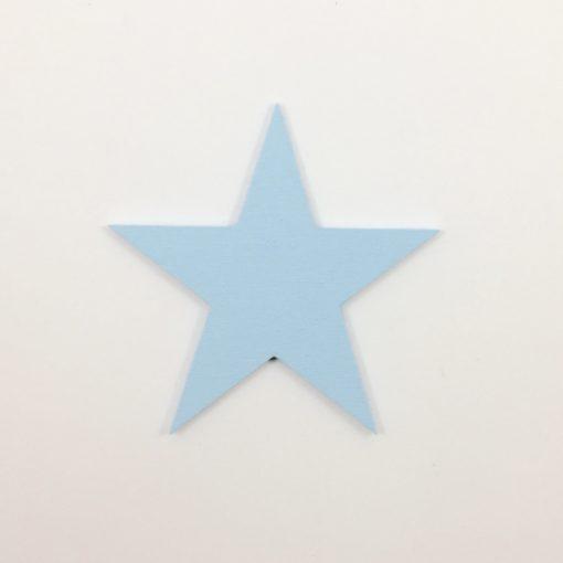 lyseblå wood sticker formet som en stjerne