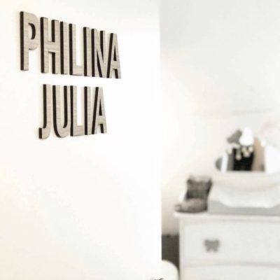 philina julia navneskilt til dør
