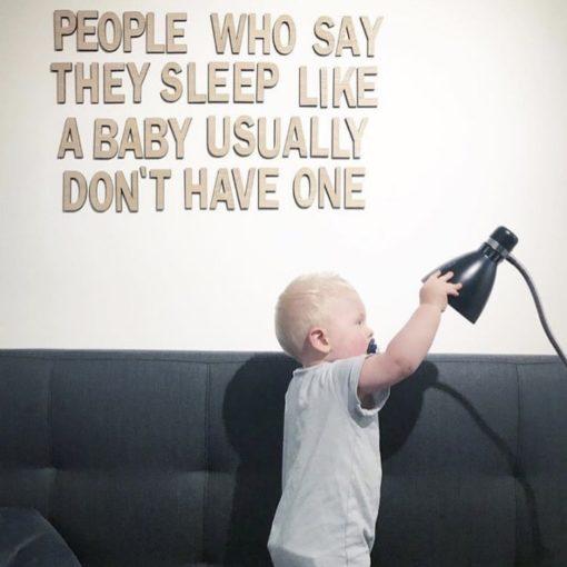 Smukt citat med baby