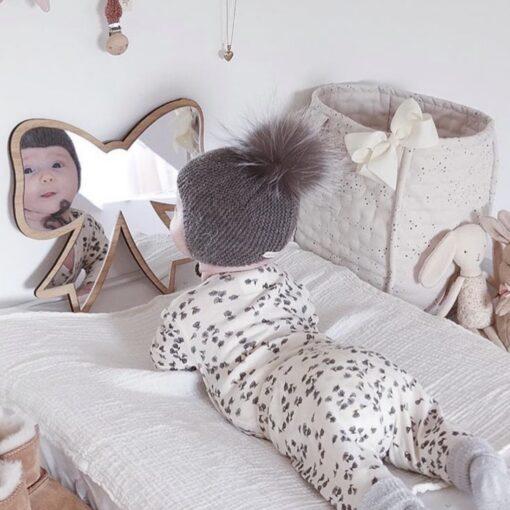 Sløjfe spejl i egetræ - nakketræning