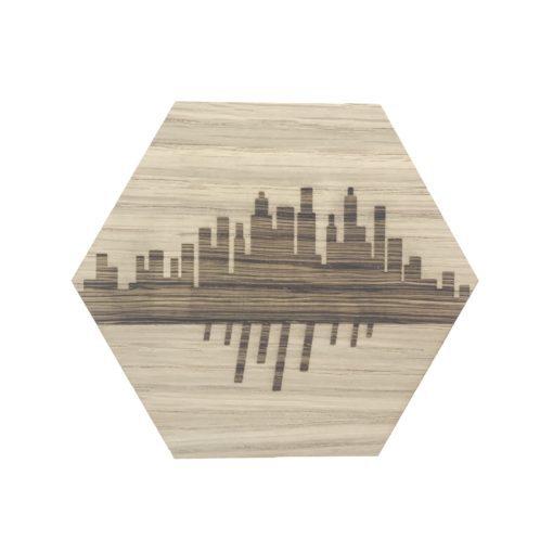 Design plade med skyline