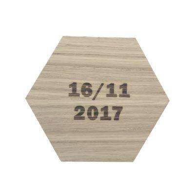 Design plade med dato