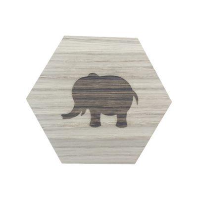 design plade med en elefant