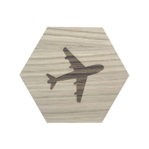 design plade med fly