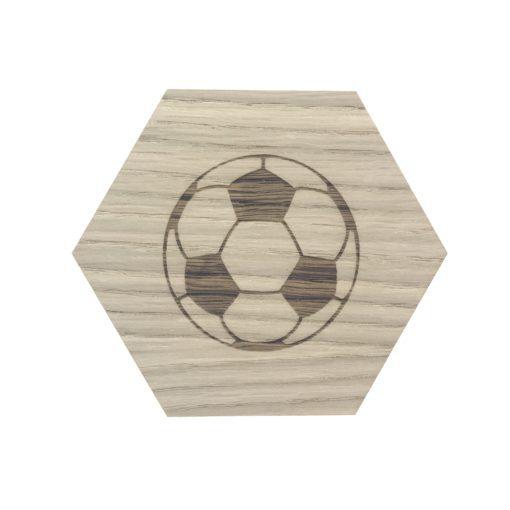 Design plade med fodbold graveret