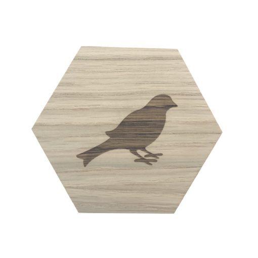 design plade med fugl
