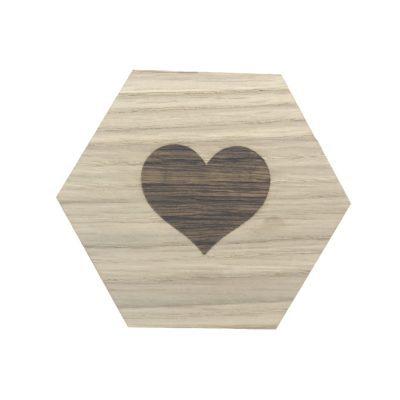 design plade med hjerte