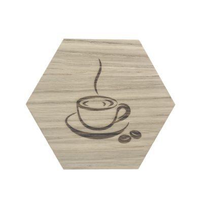 Kaffekop graveret på design plade