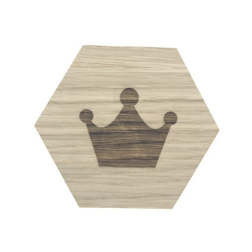 graveret design plade med krone
