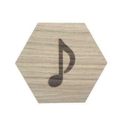 musik node på design plade
