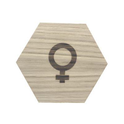 pige tegn design plade