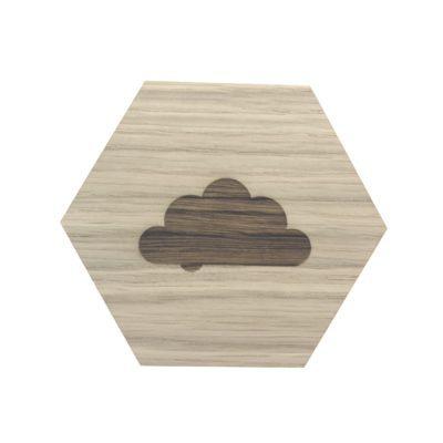 Design plade med sky graveret