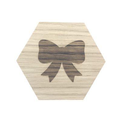 design plade med sløjfe