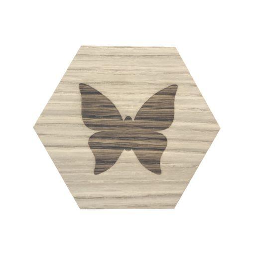 design plade med sommerfugl