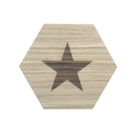 design plade med stjerne