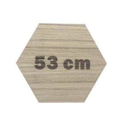 Design plade med længde i cm