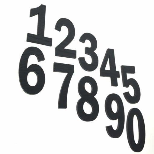 Smukke sorte tal til børneværelset