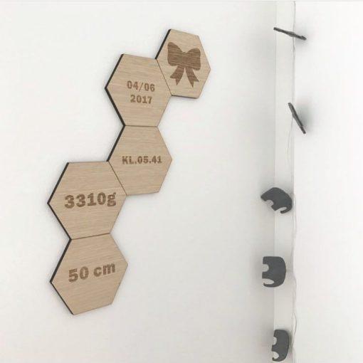 Design plader på væg i børneværelse
