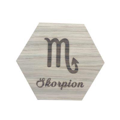 stjernetegn skorpion design plade