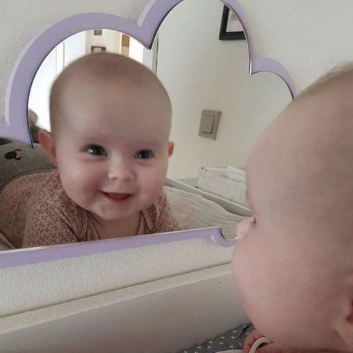 nakketræning med baby i spejl