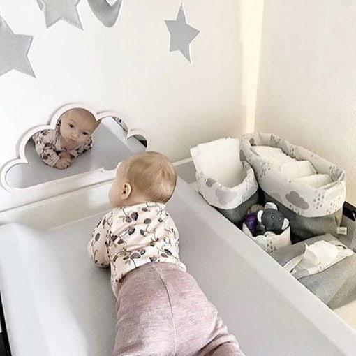 baby nakketræning sky spejl lyserød