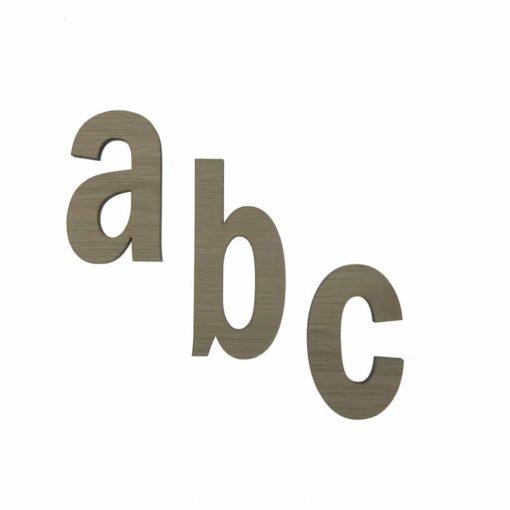 6 mm egetræsfiner skåret bogstaver til dekoration af væggen