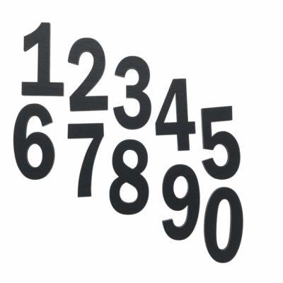 Indret på væggen i børneværelset med disse smukke sort tal