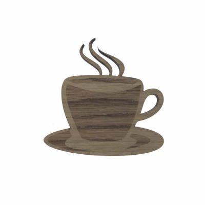 Kaffekop graveret med detailjer og damp