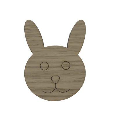 Børneknage til pigeværelset formet som en kanin