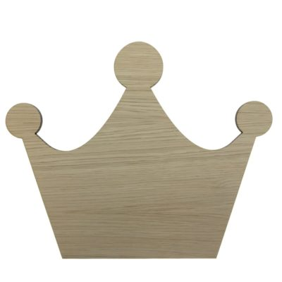 Børne væglampe formet som en krone i egetræsfiner