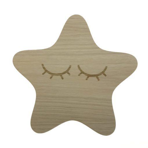 Image of   Afrundet stjerne lampe med vipper
