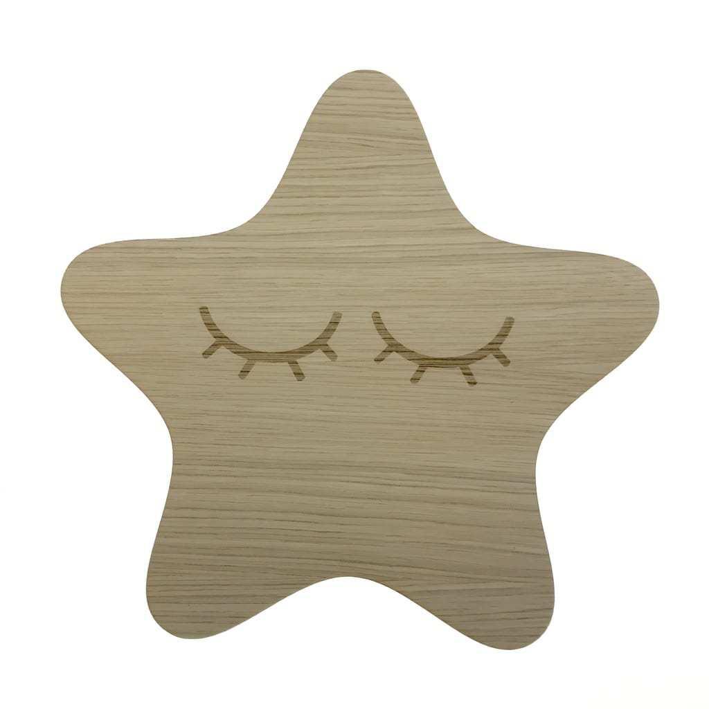 Stjernelampe til børneværelset ⇒ Afrundet lampe med vipper